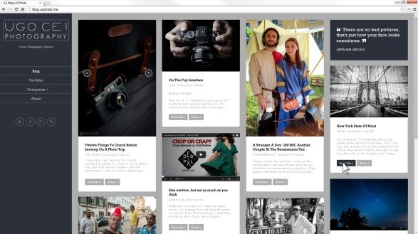Ugo Cei Website Design